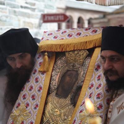 Крестный ход, икона «Виматарисса», Ктиторская, Ватопед, вторник Светлой Седмицы 2