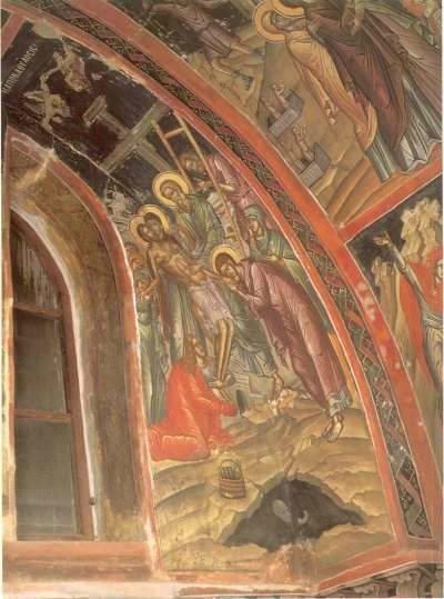 Тело Иисуса Христа немедленно было снято со креста