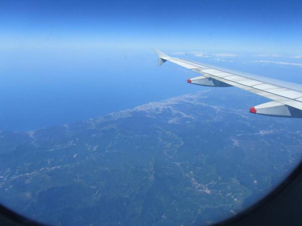 аэропорт Катани - из самолета