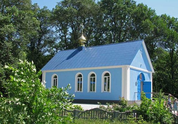 Церковь Озерянской Иконы Божией Матери - Нижняя Озеряна - Харьковский район, построен на месте разрушенного монастыря