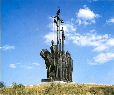 Монумент Ледовое побоище Гора Соколиха (Псковская область)