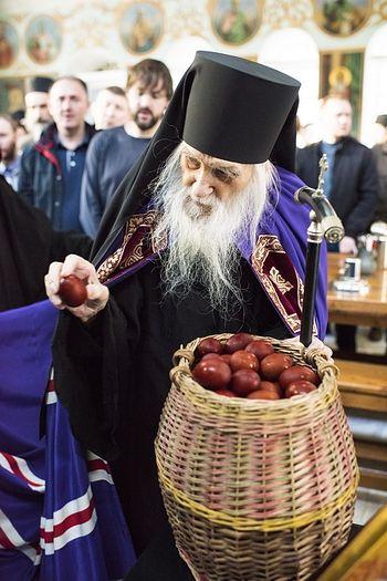 Пасха и Светлая седмица в Русском монастыре на Афоне 10