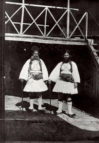 Сердарисы, охранники, Святой Горы Афон, фото начала XX века