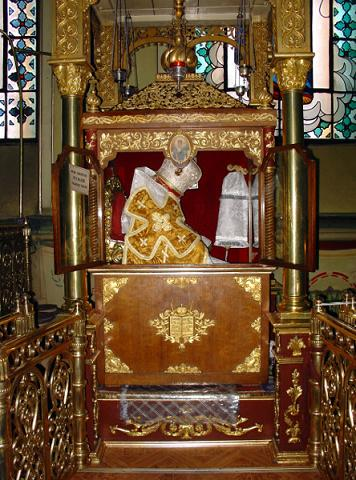 Мощи святителя Афанасия ІІІ Пателлария, патриарха Цареградского Лубенского