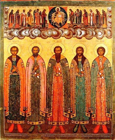 Преподобные братья Никита, Кирилл, Никифор, Климент и Исаакий Алфановы (Сокольницкие)