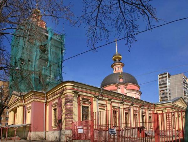 Церковь Ирины (Троицы Живоначальной) в Покровском - Басманный
