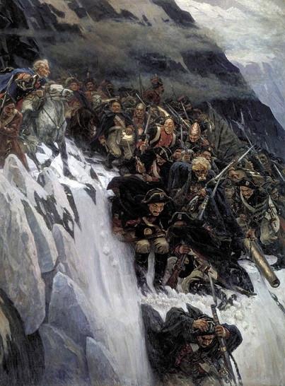 В. Суриков. Переход Суворова через Альпы