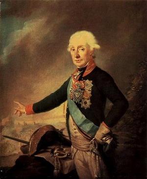 Последний прижизненный портрет А.В. Суворова. 1799 г. И. Крейцингер