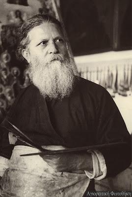 Иеромонах Василий Кареотис из братства Иосафеев (1889-1965). Фото Спироса Мелетиса, 1950 год
