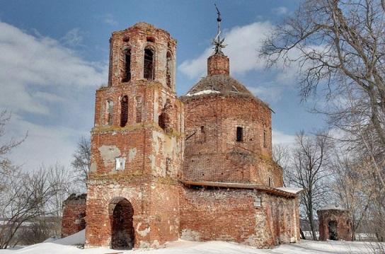 Церковь Спаса Преображения - Струпна - Зарайский район, не действует