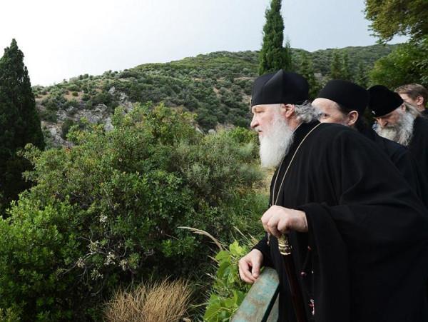 святейший Патриарх Кирилл на Афоне, 2013