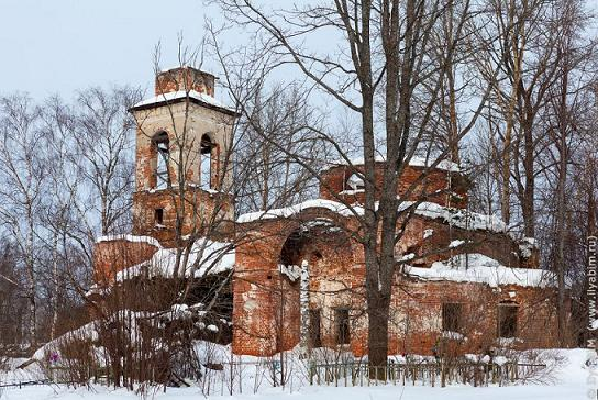 Церковь Вознесения Господня - Вознесенье, урочище - Тутаевский район - Ярославская область, не действует