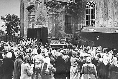 Крестный ход с мощами св. Симеона 25 мая 1989 г.