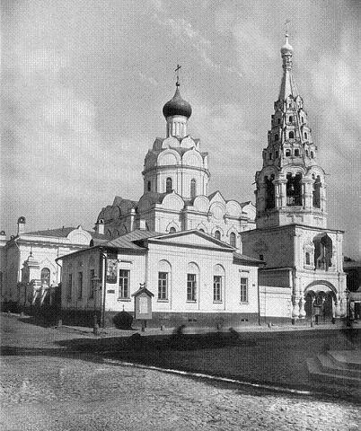 Московская Арбатская церковь Николы Явленного (угол Арбата и Серебряного переулка). 1881 год, разрушена безбожной властью в 1931 году