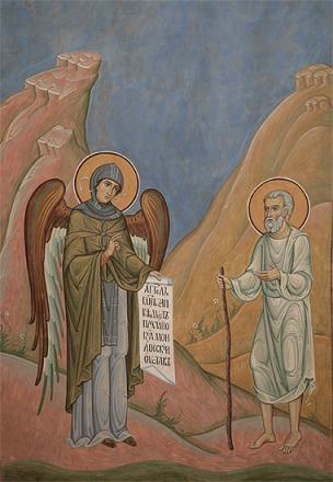 Ангел Господень заповедует Пахомию монашеский Устав