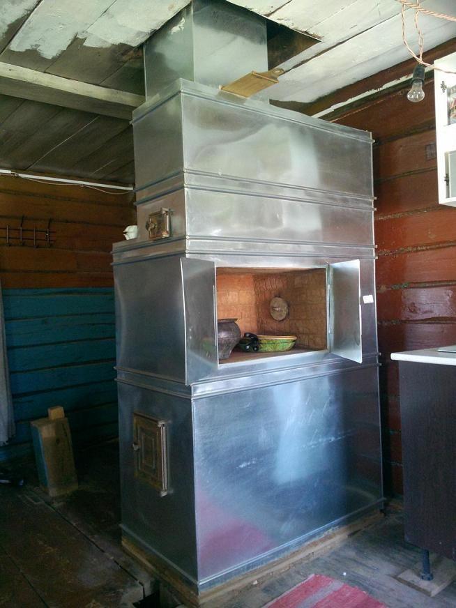 деревня печка новая