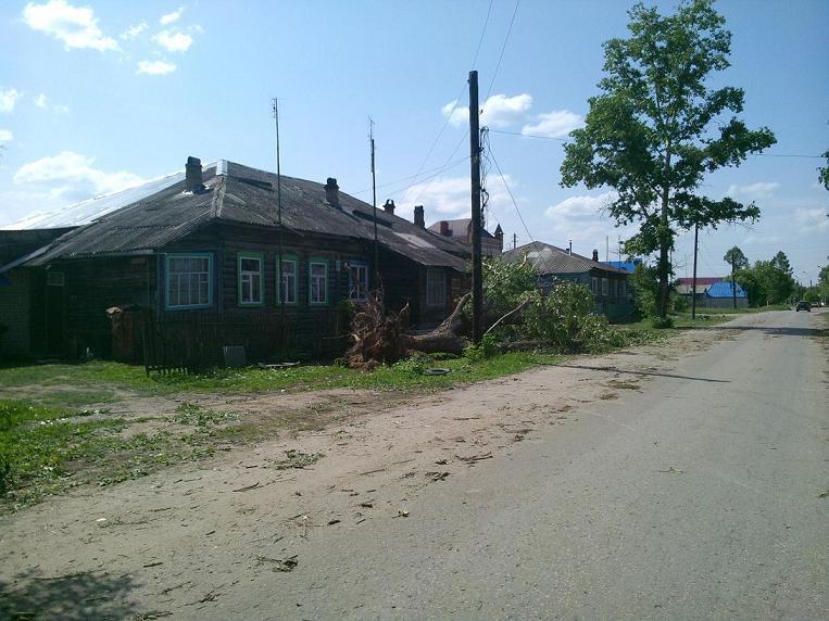 деревня после урагана 2