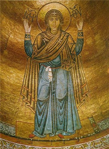 Икона Богородицы «Нерушимая Стена», киевский Софийский Собор, мозаика