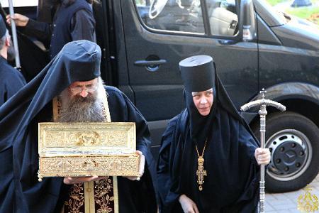Встреча мощей великомученика Георгия Победоносца в Воскресенском Новодевичьем монастыре