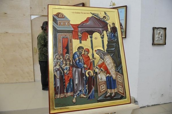 икона написана на Афоне, для храма в Вешняках