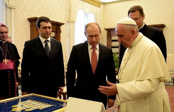 Путин в Ватикане 2015