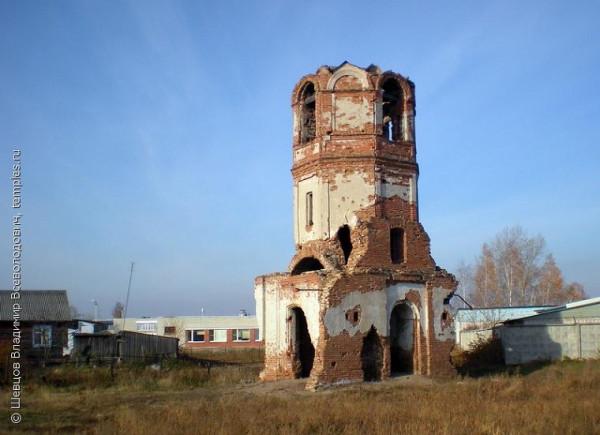 Руины церкви Покрова Пресвятой Богородицы (старой) в Песчано-Коледино. Далматовский район Курганской области.