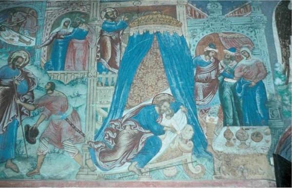 Пророк Елисей вокрешает сына сонамитянки