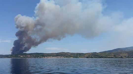 пожар на границе Афона 2