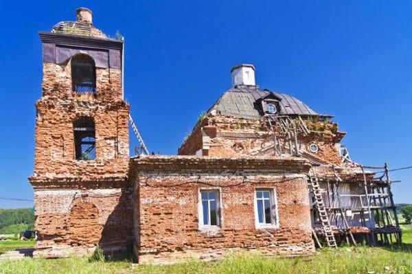 Пророко-Илиинская церковь. с. Рябаш, Башкортостан, восстанавливается