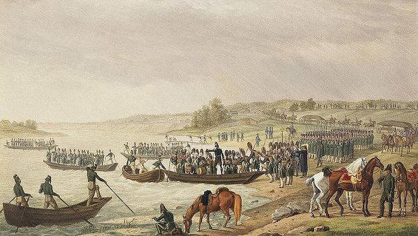 Переход французов через реку Неман в 1812 году