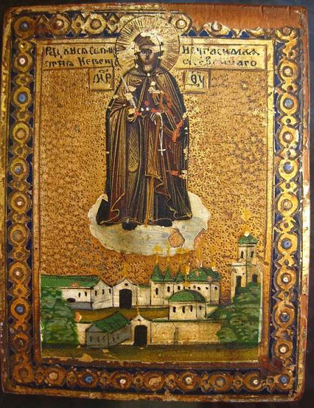 Икона Богородицы Вратарница Угличская (Неугасимая Свеча)