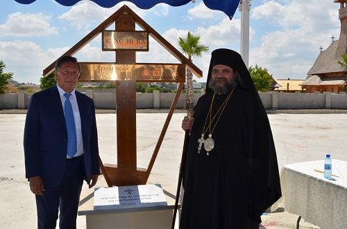 закладка камня храма Всех Святых земли Российской на Кипре