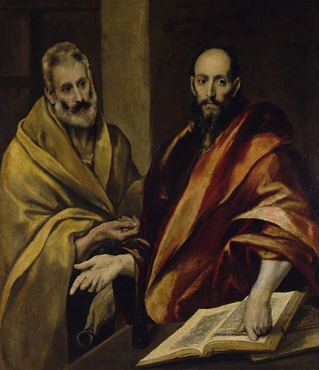 Эль Греко. Апостолы Петр и Павел. Между 1587-1593