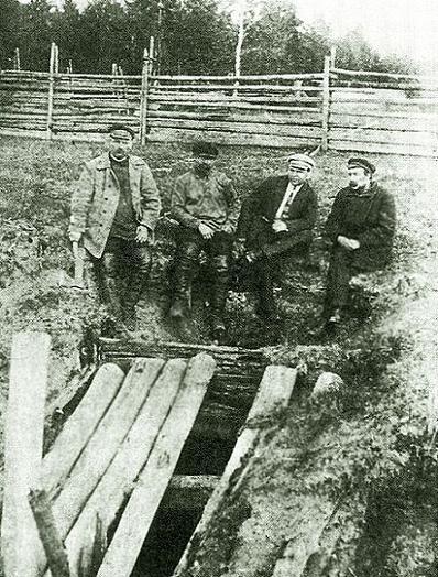 Наземный вид шахты Межной. 1918 год