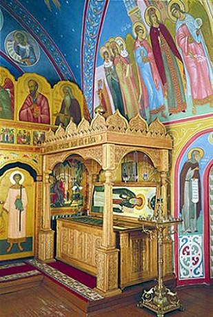 рака с мощами преподобного Герасима Болдинского