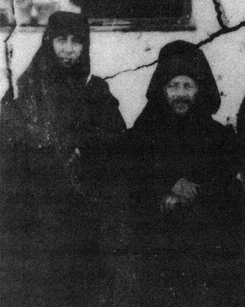 Монахи Евпраксия и старец Иосиф Исихаст