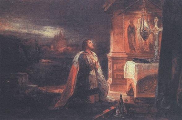 Александр Невский, молящий об избавлении Отечества