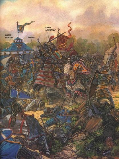 поединок князя Александра с ярлом Биргером