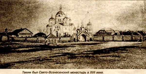 Вознесенский (Борколабовский) женский монастырь Быхов, Беларусь - таким монастырь был в XVII веке