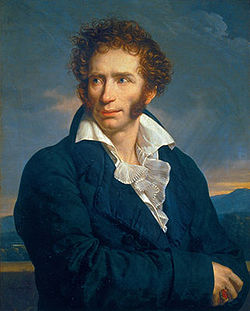 Niccolò Ugo Foscolo, портрет Ф.-К. Фабра, 1813