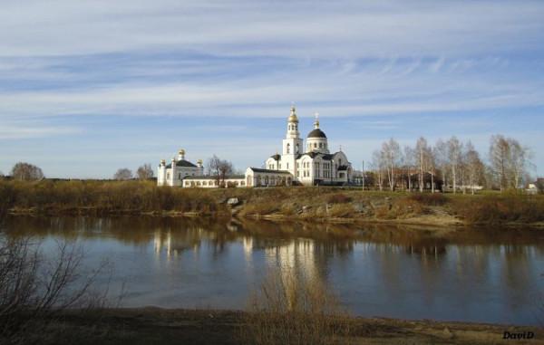 Село Меркушинское, Михаило-Архангельский и Симеоновский храмы, современный вид