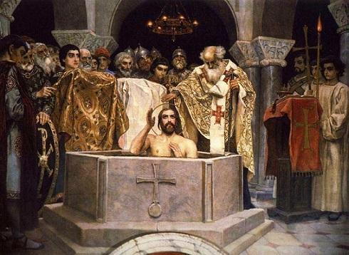 Фрагмент фрески В.М.Васнецова Крещение Святого князя. Владимира