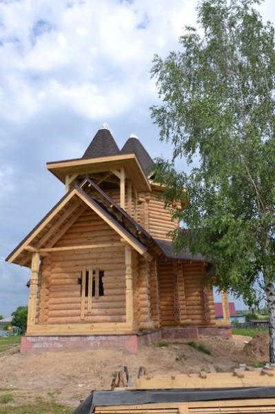 строящийся храм в честь бл. Матроны Анемнясевской в Гремячево (Касимовская и Сасовская епархия)