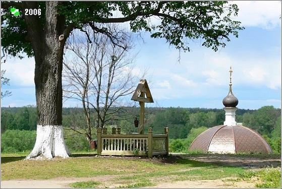 Благовещенский женский монастырь - Киржач - Киржачский район - Владимирская область, Крест на месте храма прп. Сергию Радонежскому