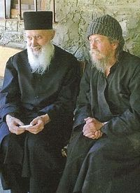 Преосвященнейший митрополит Сисания и Ситатисты Антоний со старцем Гавриилом Карейским