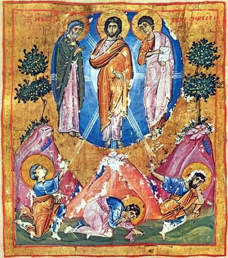 Миниатюра Евангелия Иверского монастыря (Ath. Iver. 1. Fol. 296v). XI в. Афон, Греция