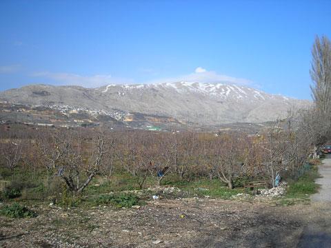 гора Хермон, Израиль. Самая высокая точка этого государства - 2814 м над уровнем моря