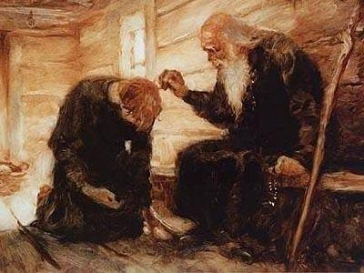 монах просит прощение у старца