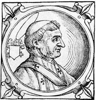Св. Гаий, папа Римский. Гравюра (Platina B. Historia. 1626)