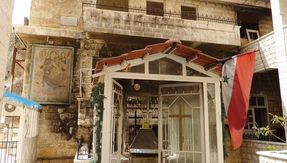 Древний монастырь святой Феклы, неоднократно подвергавшийся нападениям радикальных исламистских группировок, в настоящее время возрождается, Маалюля, Сирия